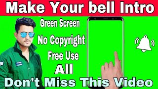 How To Make bell intro - Subscribe Intro - Green Screen