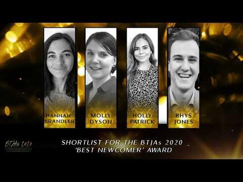 BTJAs 2020 Best Newcomer