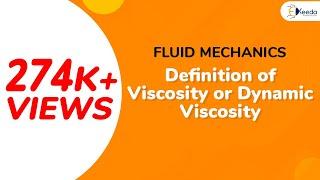Definition of Viscosity or Dynamic Viscosity