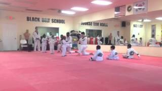 Yellow belt- little dragon test