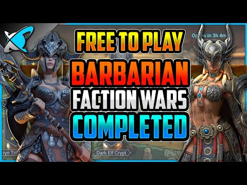 """""""F2P"""" BARBARIAN Faction Wars COMPLETED (FFF Only?!) 