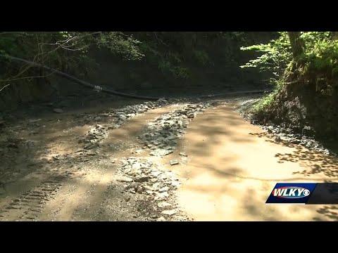 Environmental emergency declared for Bullitt County creek polluted by slurry