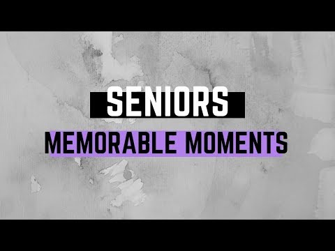 We asked 17 seniors what their most memorable moments have been over the past four years.