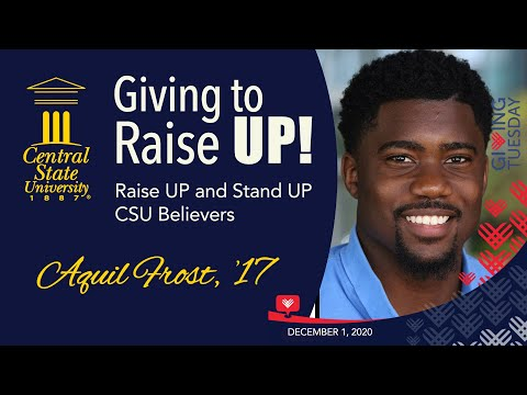 Giving to Raise UP! - Alumnus Aquil Frost '17