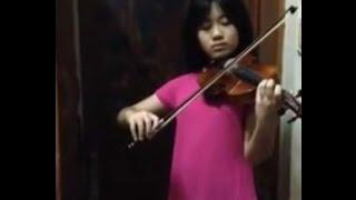 BỤI PHẤN - Bé gái chơi Violon tặng Thầy Cô ngày 20/11 cực hay