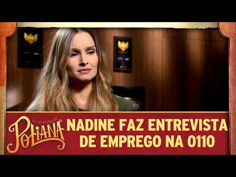 Nadine faz entrevista de emprego na 0110 | As Aventuras de Poliana