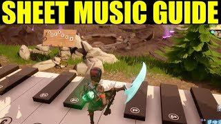 """""""Play the sheet music at the piano near retail row"""" Location Week 6 Fortnite Guide"""
