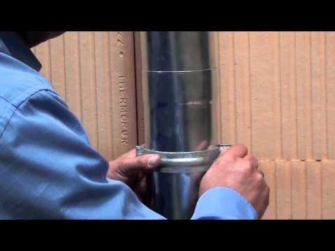 Montáž objímky svodu do zdiva