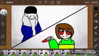 Bad time animation by Echo sans the skeleton (undertale parody of good time by owl city)