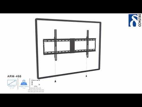 DELTACO Väggfäste för TV/skärm - Installationsvideo - ARM-466