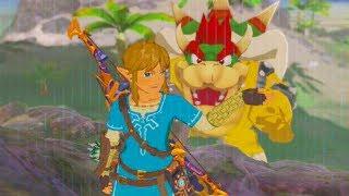 Bowser fight in Zelda breath of the wild (Switch) (Nintendo Switch mod)