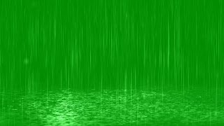 Rain Drops Fall in Puddles - Green Screen Rain Effect
