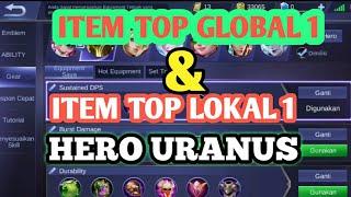 Tutorial Item Wajib Top Global Hero Uranus-Mobile Legends