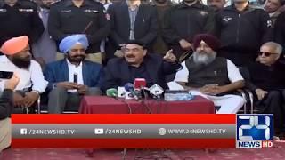 Sheikh Rasheed Press Conference With Sikh Community | 26 Nov 2018 | 24 News HD