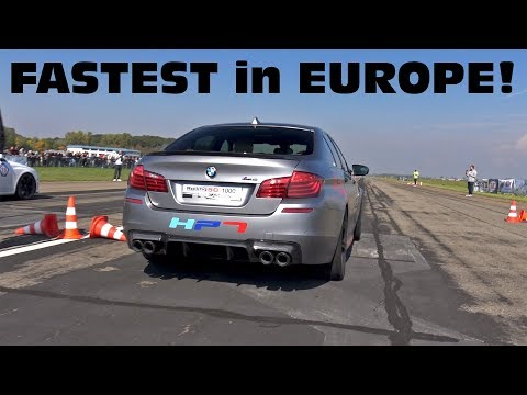 FASTEST BMW M5 in EUROPE! 850HP BMW M5 F10 HPT Stage 3