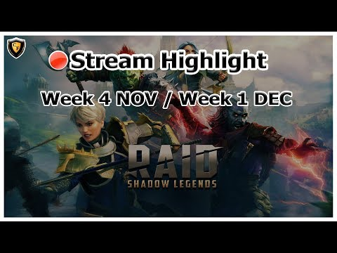 RAID Shadow Legends | Stream Highlight | End NOV / Beg DEC