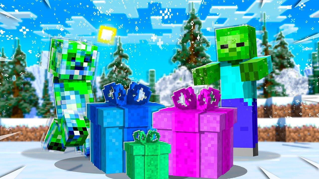 UnspeakableGaming - OPENING LUCKY PRESENT BLOCKS Christmas Challenge