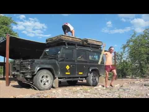 Camping on a Land Rover Defender
