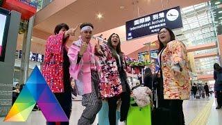 CELEBRITY ON VACATION - Kevin Julio Dan Jessica Mila Ajak Ibunda Ke Jepang (05/03/16) Part 1/3 width=