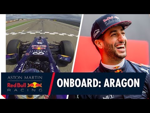 On Board with Daniel Ricciardo for some tyre melting action at Aragón