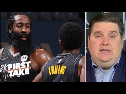 Brian Windhorst is concerned about Kyrie Irving and James Harden's chemistry   First Take