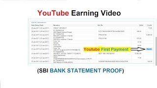 Got First Payment From Google Adsense - YouTube Earning Rs.6478 (SBI Bank Statement Proof)