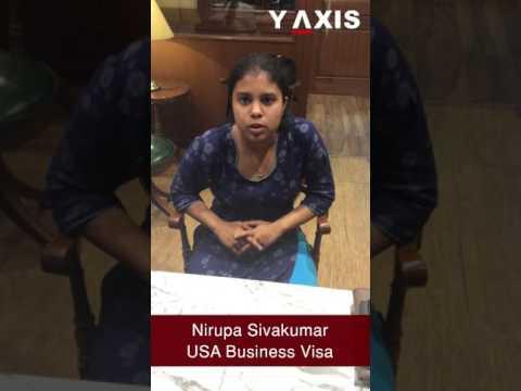 Nirupa Sivakumar USA Business visa PC Haritha Asha