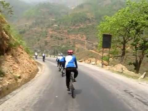 Cycling in Tibet Nepal Friendship Highway (final ride to Bhaktapur)