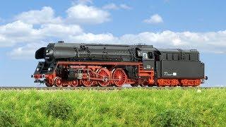 TRAINMANIA - Zkušební jízda parní lokomotivy 01.502 DR od firmy Tillig (TT)