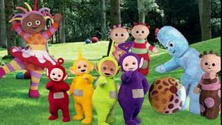 The teletubbies in the night garden
