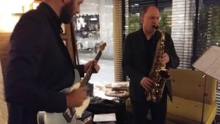 Live jazz and bossa aperitive - sax and guitar (Bombardieri/Pasinetti) @arabesque café - Milan