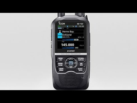 Icom id52 announced (colour screen)
