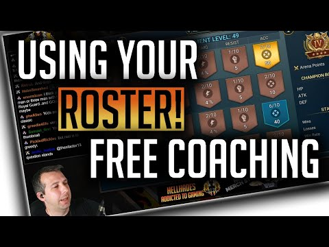 RAID | Free Account Coaching! Using your Roster effectively!