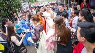 Hoa hậu Phạm Hương được fan đón tiếp nồng nhiệt