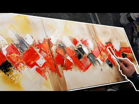 Learn how to make a triptych abstract painting | Diorama