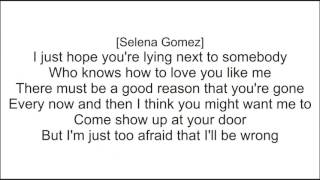 Charlie Puth   We Don't Talk Anymore feat  Selena Gomez (Lyric Version)