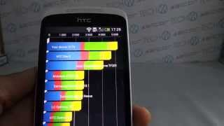 HTC Desire 500 Quadrant benchmark video | Tech2.hu