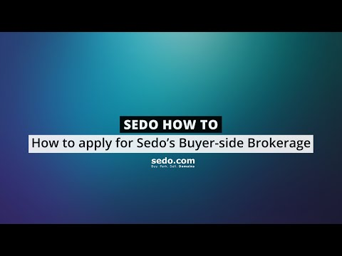 How to apply for Sedo's Buyer-side Brokerage