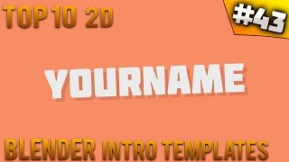 TOP 10 Blender 2D intro templates #43 (Free download)