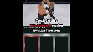 WWE SmackDown vs Raw 2010 gameplay DS Part 1