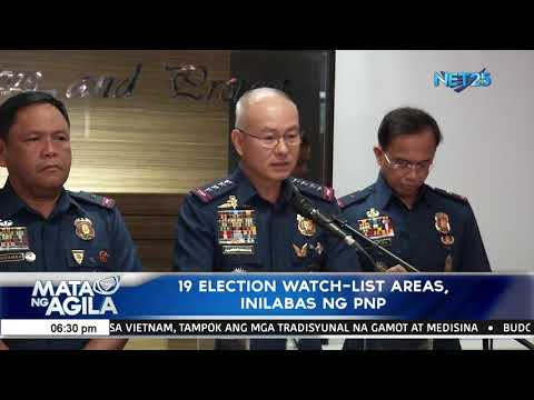 19 election watch list areas, inilabas ng PNP