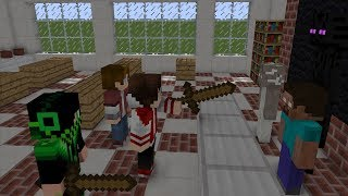Monster School V.S XDJAMES.AppleSauce.Monshiiee 1min - Minecraft Animation part 2
