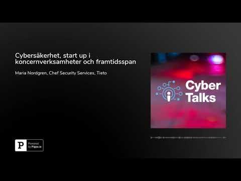 I det här avsnittet av Cyber Talks träffar Rolf Rosenvinge Maria Nordgren, Head of Security Services på Tieto. I avsnittet berättar Maria om sin karriär inom cybersäkerhet, hur det är att jobba med en start up verksamhet inom en stor koncern samt vilka tjänster kunderna förväntar sig om 3 år. Vi får också bakgrunden till varför Cyber Talks kom till.