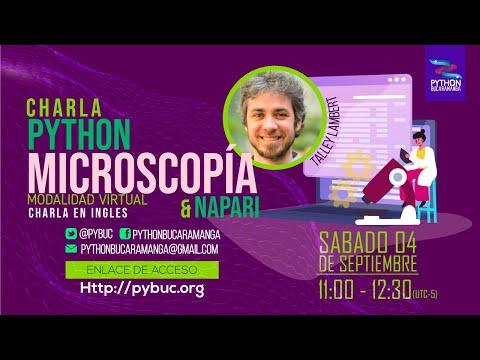 Python, microscopía y napari (charla en inglés)