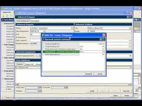 Powielanie dokumentów w module księgowym RAKSSQL