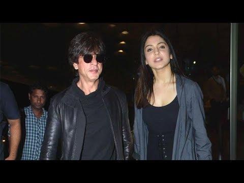 Shahrukh Khan & Anushka Sharma make a STYLISH Entry At The Mumbai Airport