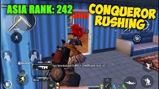 I did Non-Stop Rushing in Conqueror League of Asia Server | Pubg Mobile ASIA Rank 242 Gameplay