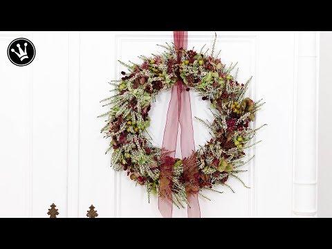 DIY - Herbstdeko selbermachen | TÜRKRANZ aus Naturmaterial selber binden - ganz einfach  | How to