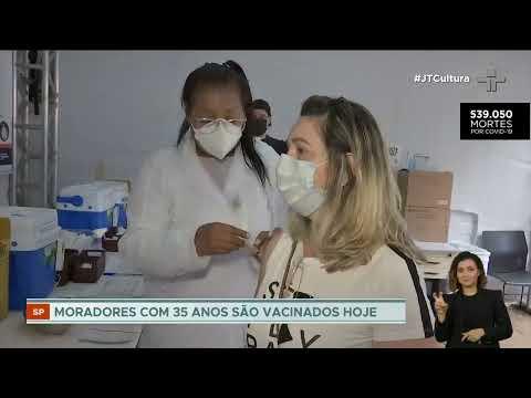 São Paulo vacina contra a Covid-19 pessoas com 35 anos nesta sexta-feira (16)
