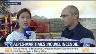 Villeneuve-Loubet près d'Antibes: un incendie a démarré dans une déchèterie